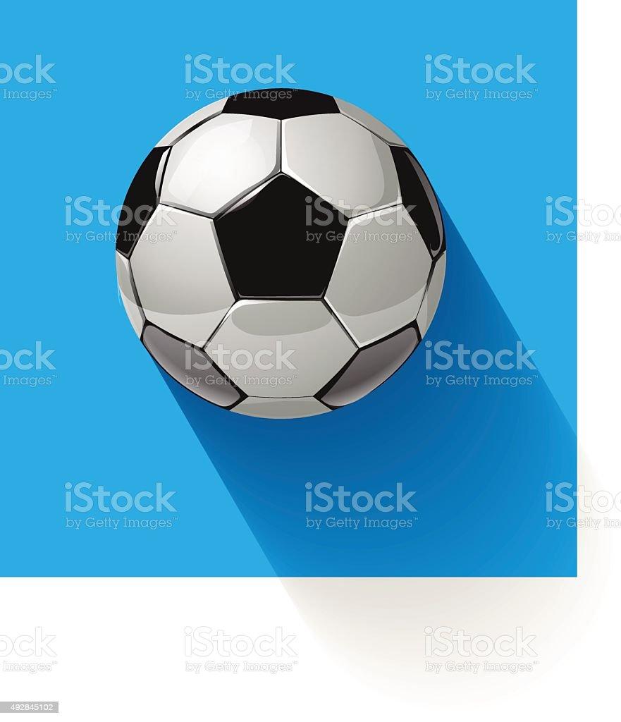 Soccer ball on a blue background. Vector illustration. vector art illustration
