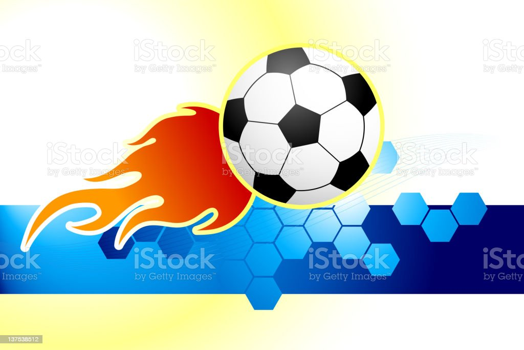Soccer ball on abstract Background royalty-free stock vector art