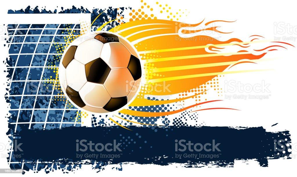soccer ball on corner royalty-free stock vector art