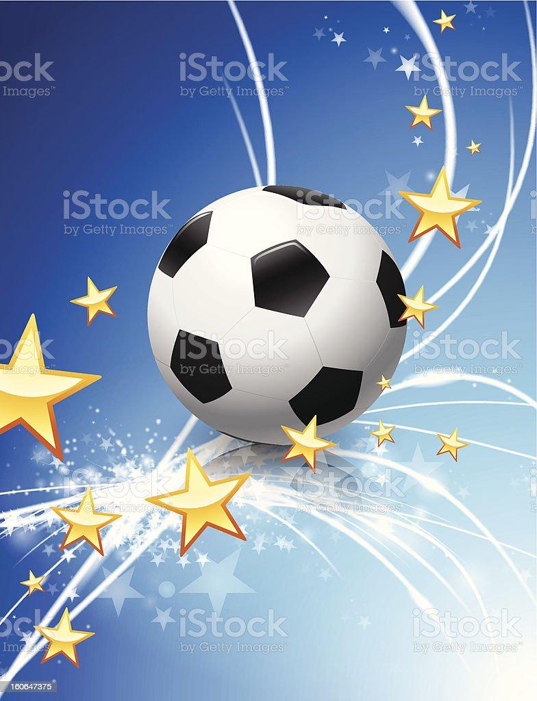 Soccer Ball on Fiber Optic Background royalty-free stock vector art