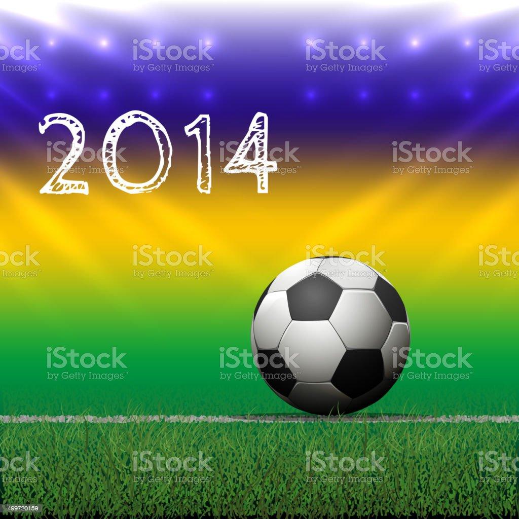 Soccer ball on grass. Vector Illustration royalty-free stock vector art