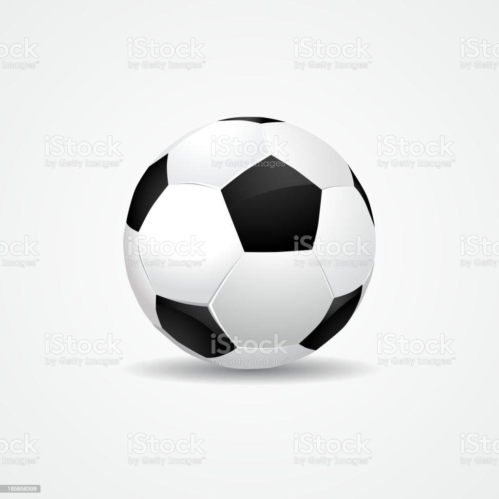 Soccer ball on white background - vector eps10 royalty-free stock vector art