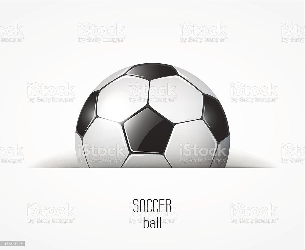 soccer ball on white hidden royalty-free stock vector art