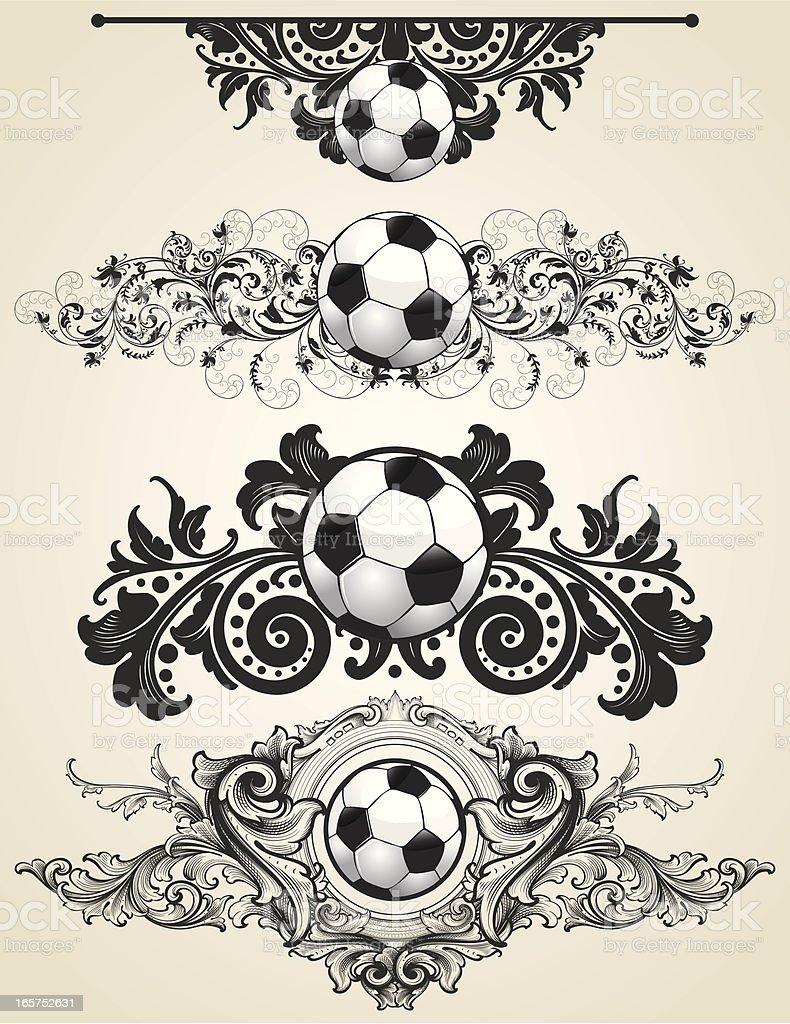 Soccer ornaments - Soccer Ball Ornaments Royalty Free Stock Vector Art