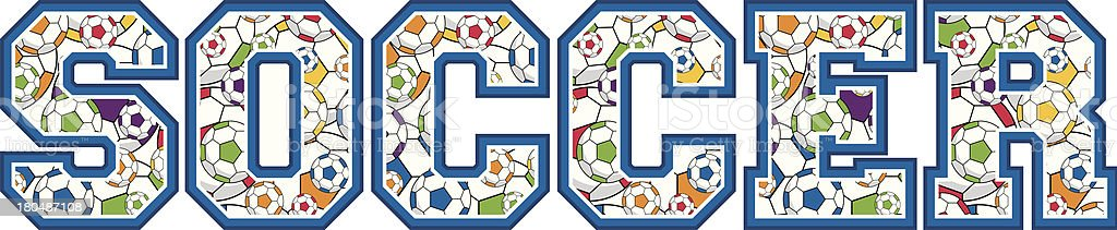 Soccer Ball Patterned Learn to Read Illustration royalty-free stock vector art