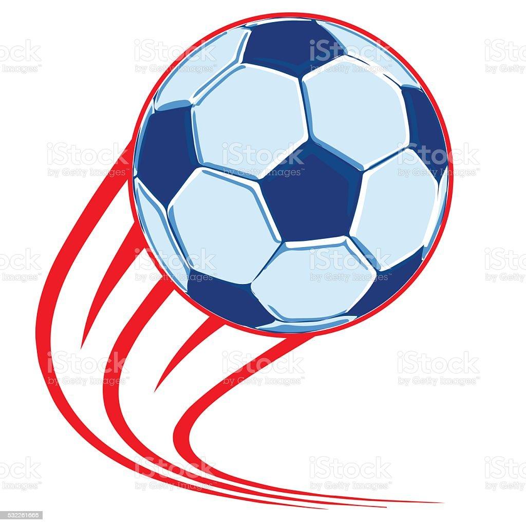 Ballon de football affiche stock vecteur libres de droits libre de droits