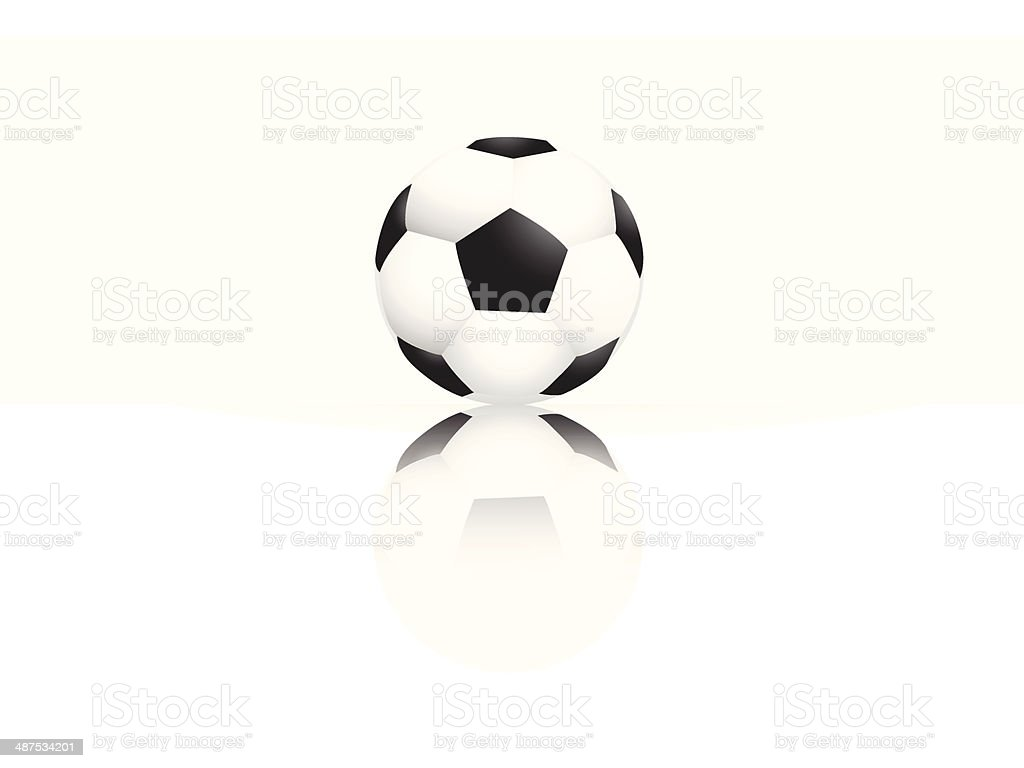 soccer ball reflect on white background EPS10 vector royalty-free stock vector art