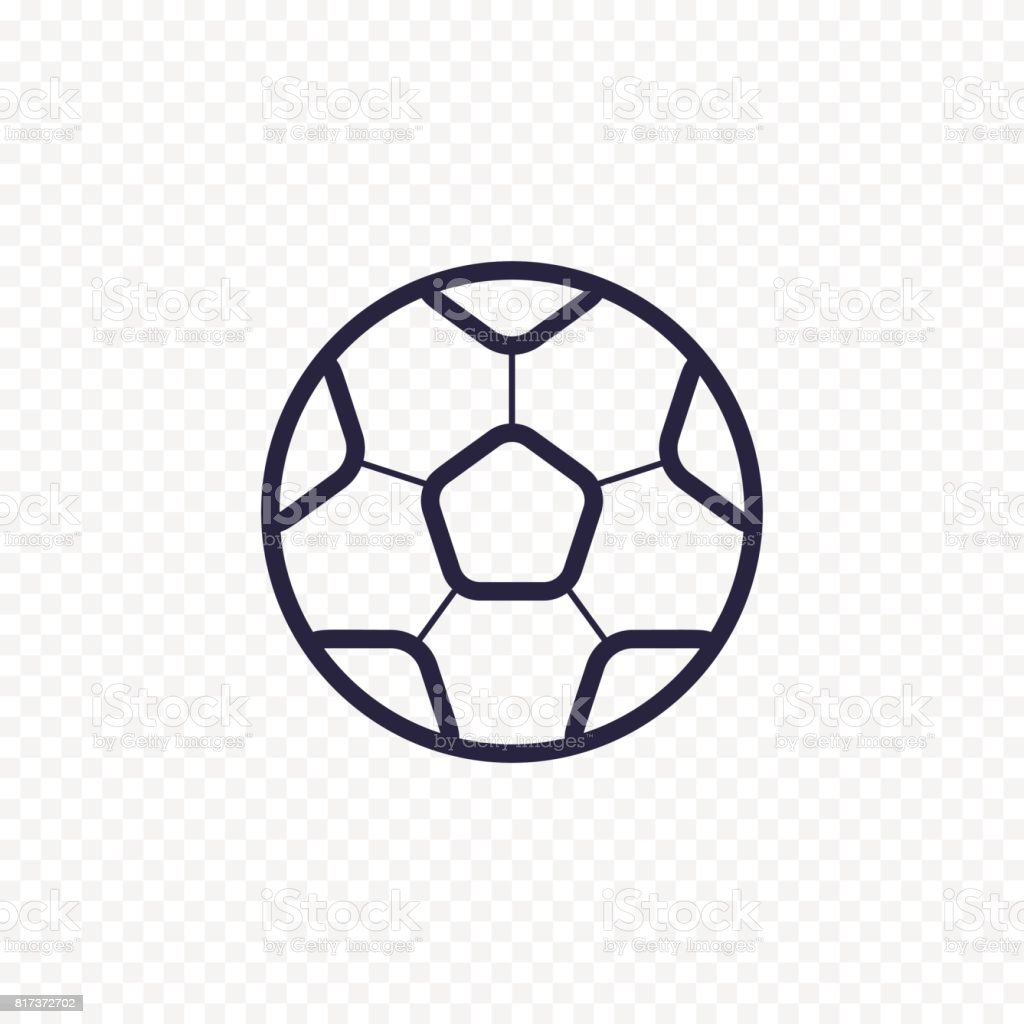 Soccer ball simple line icon. Football game thin linear signs. Outline sport simple concept for websites, infographic, mobile applications. vector art illustration