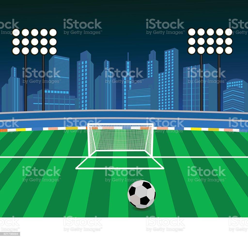 Soccer Ball Stadium vector art illustration
