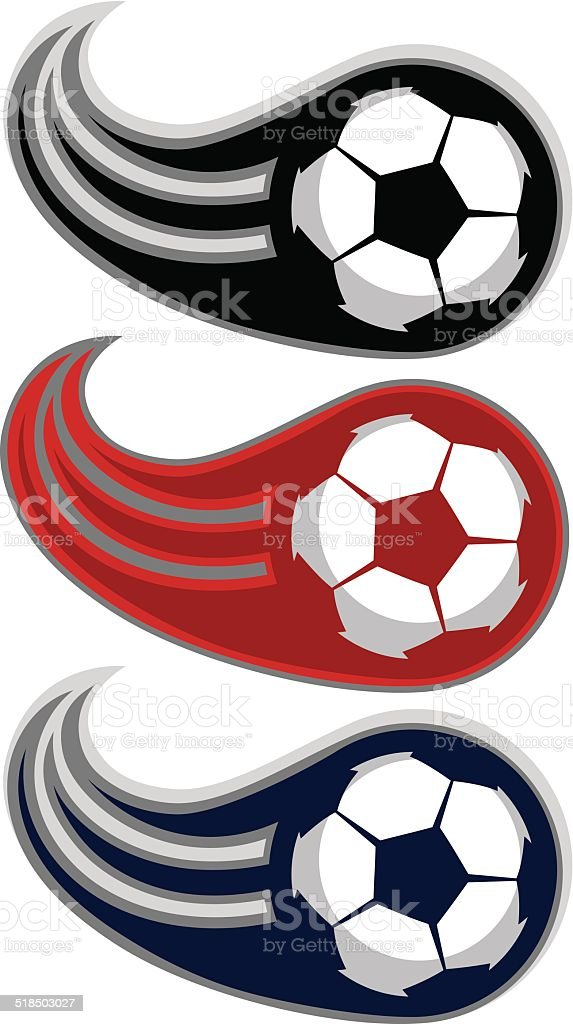 Soccer ball SWOOSH design vector art illustration