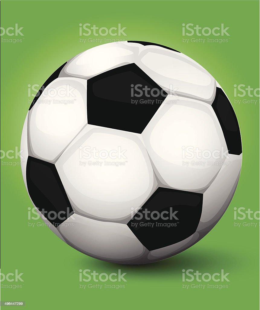 Ballon de football stock vecteur libres de droits libre de droits