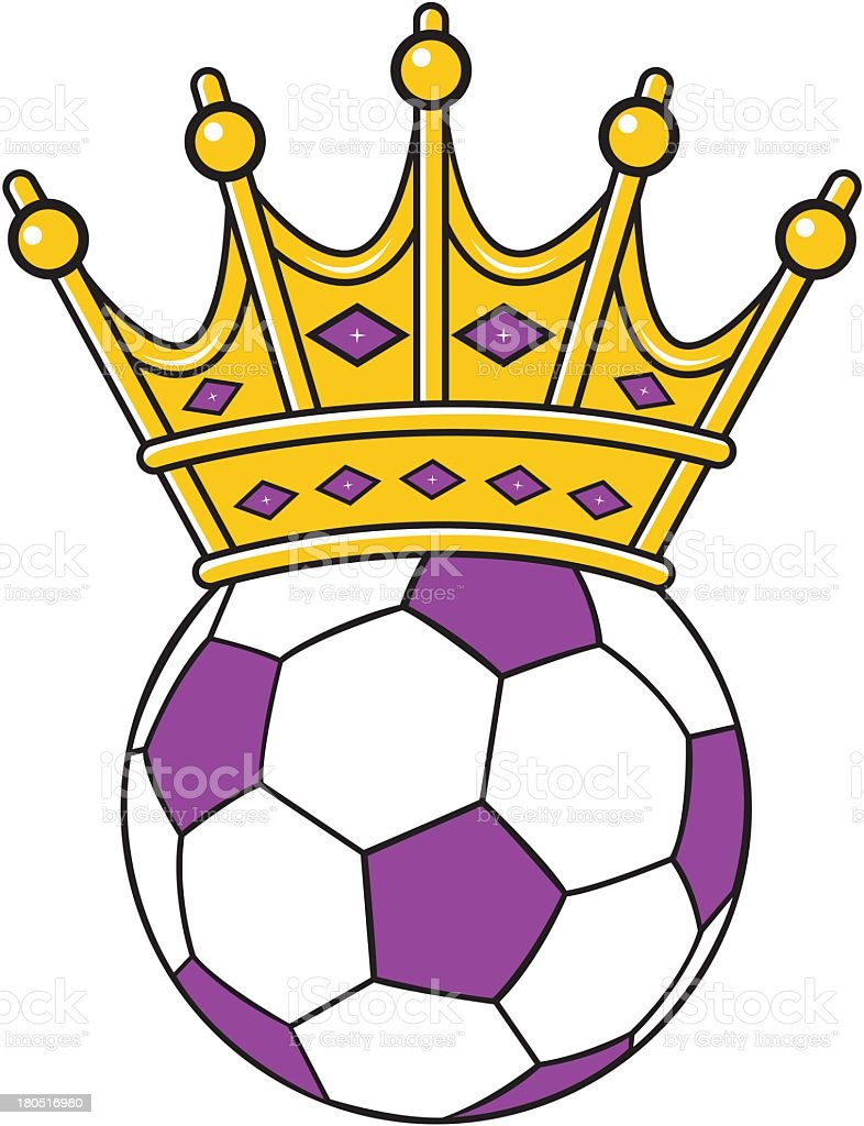 Soccer Ball With Crown royalty-free stock vector art