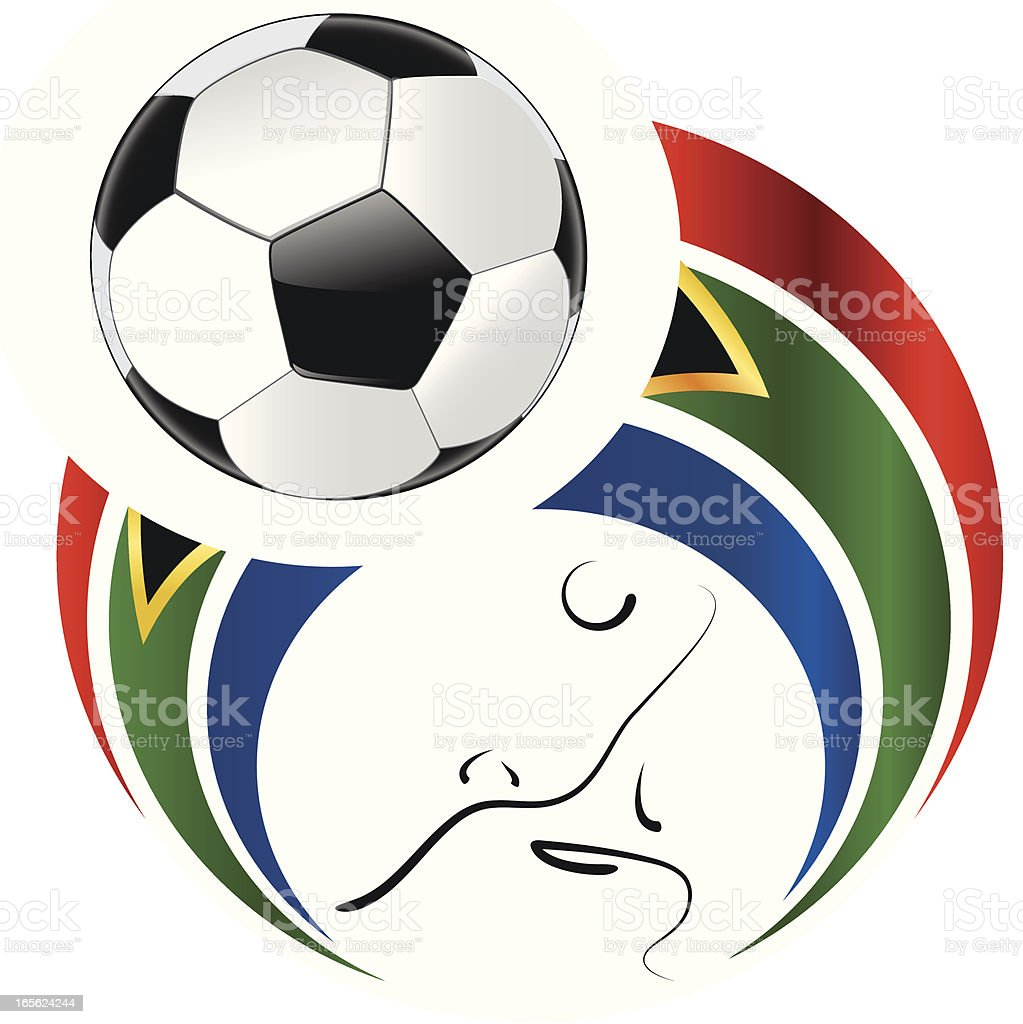 Soccer Ball World Cup 2010 South Afrika royalty-free stock vector art