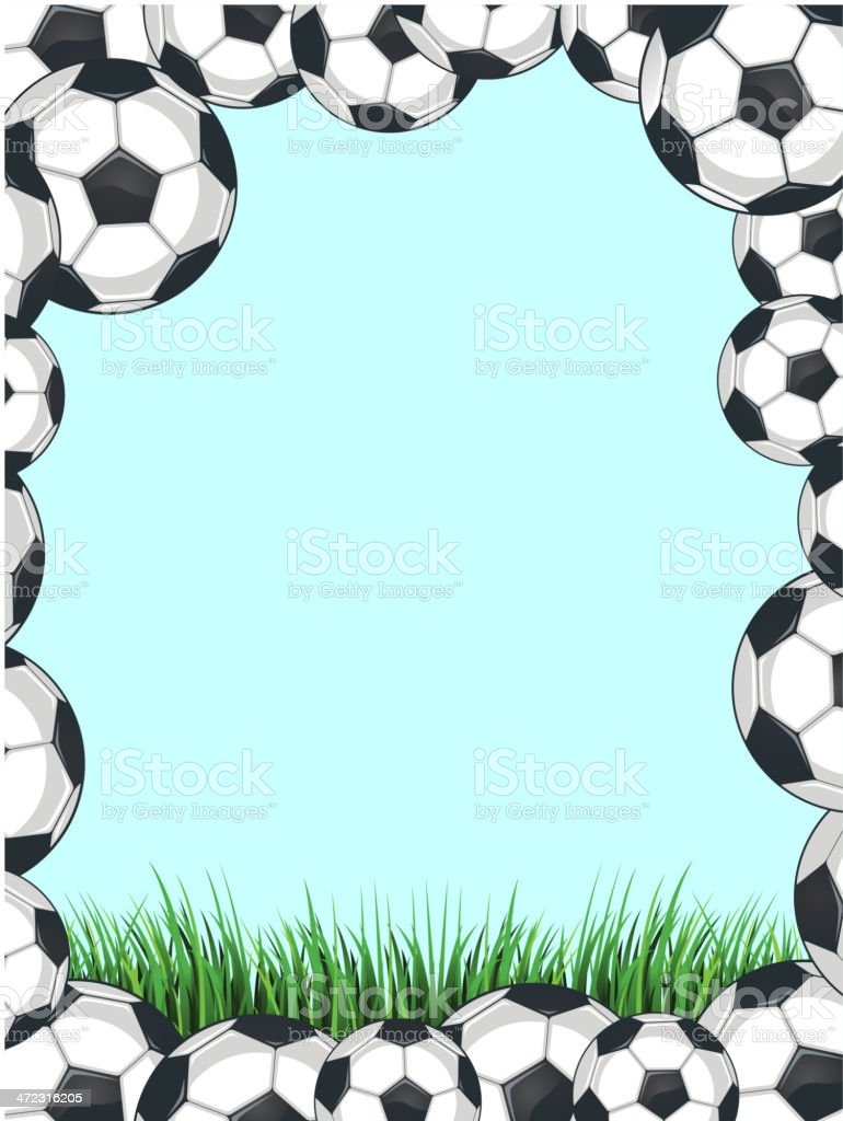 Soccer Balls Frame royalty-free stock vector art