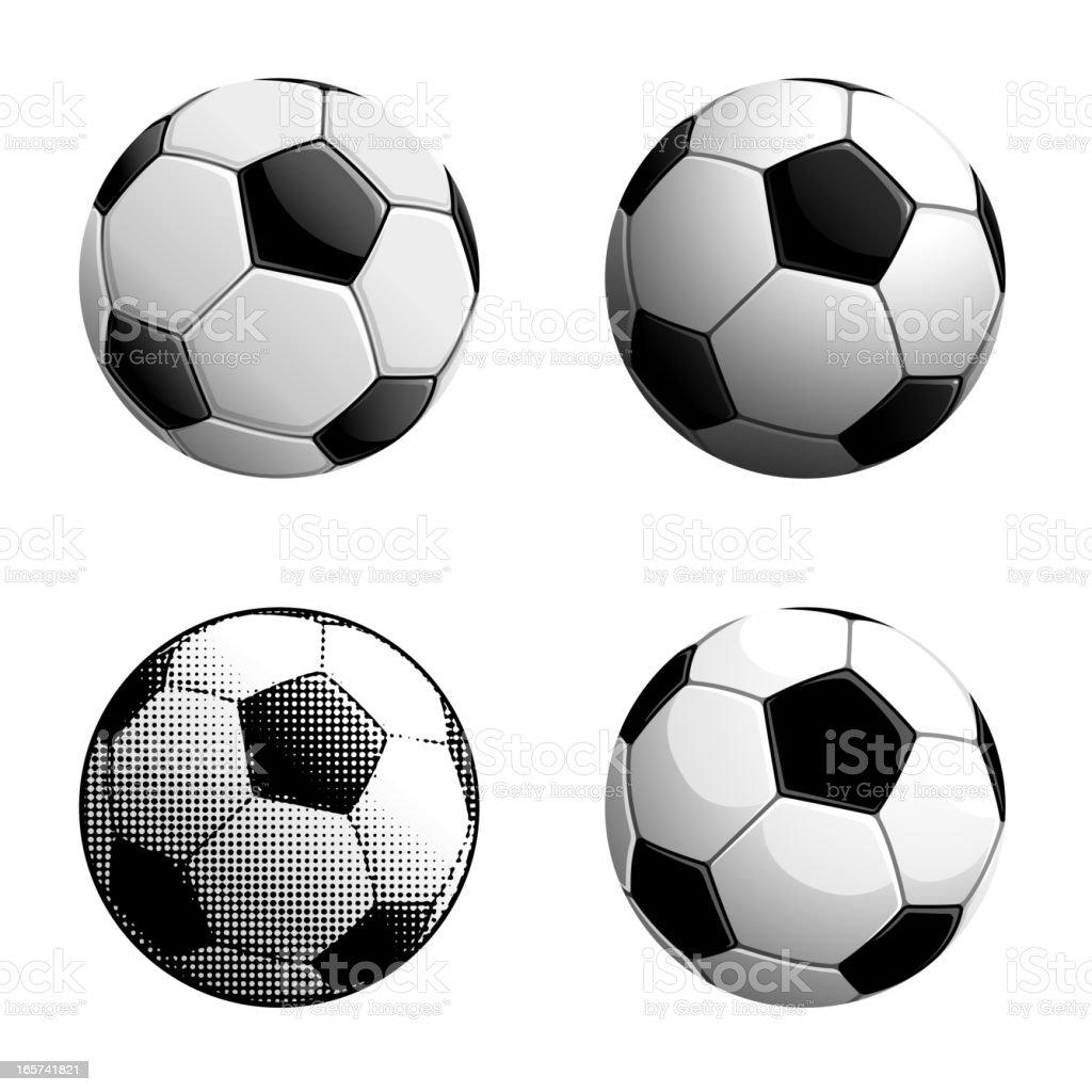 Soccer Balls royalty-free stock vector art