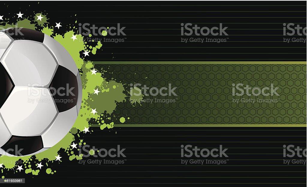 soccer banner vector art illustration