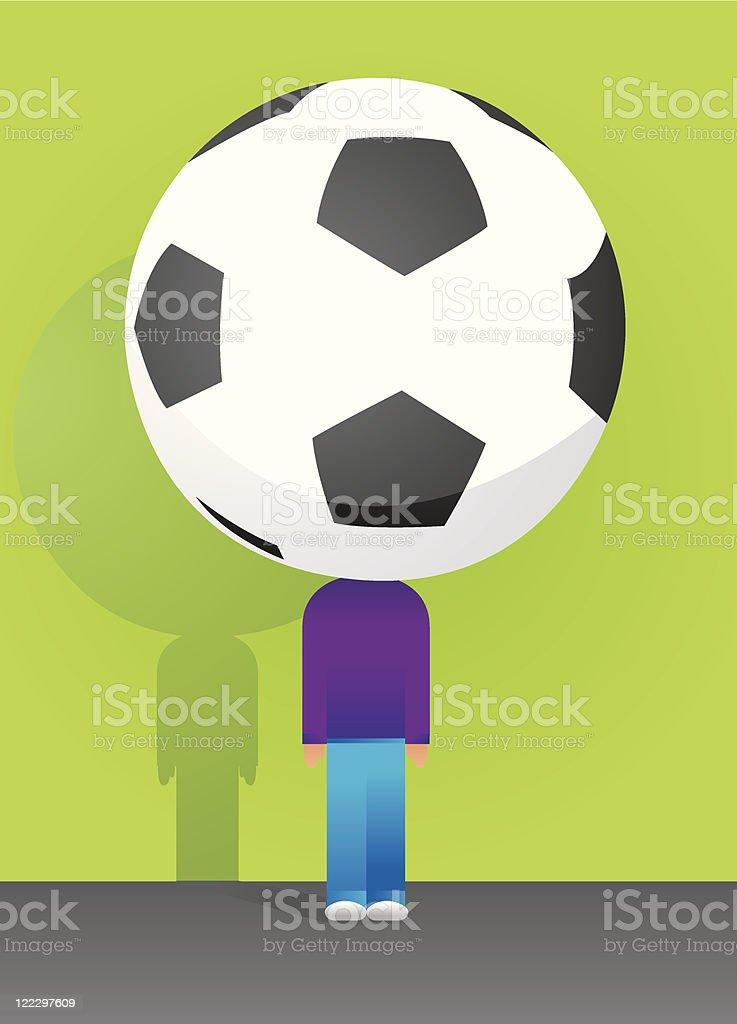 Soccer Big Fan / F?tbol royalty-free stock vector art