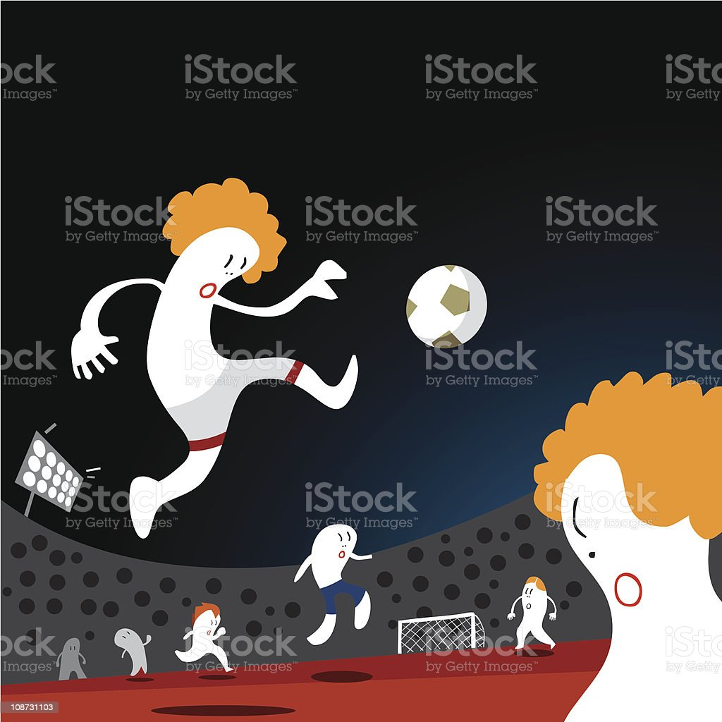 Soccer Big Match background royalty-free stock vector art