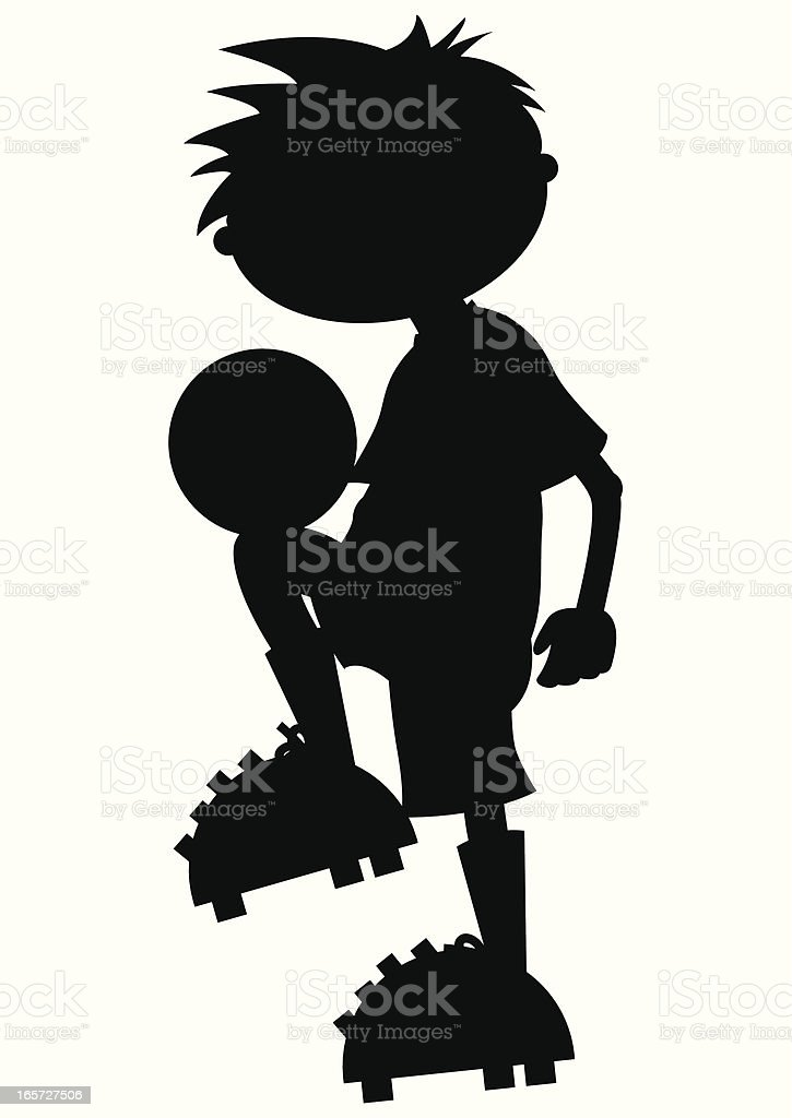 Soccer Boy Siulhouette royalty-free stock vector art