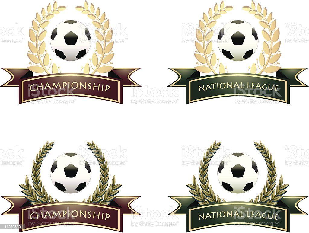 Soccer Championship And National League royalty-free stock vector art