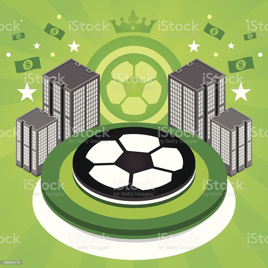 Soccer city royalty-free stock vector art