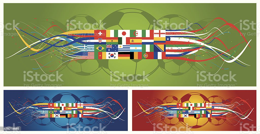 Soccer countries vector art illustration
