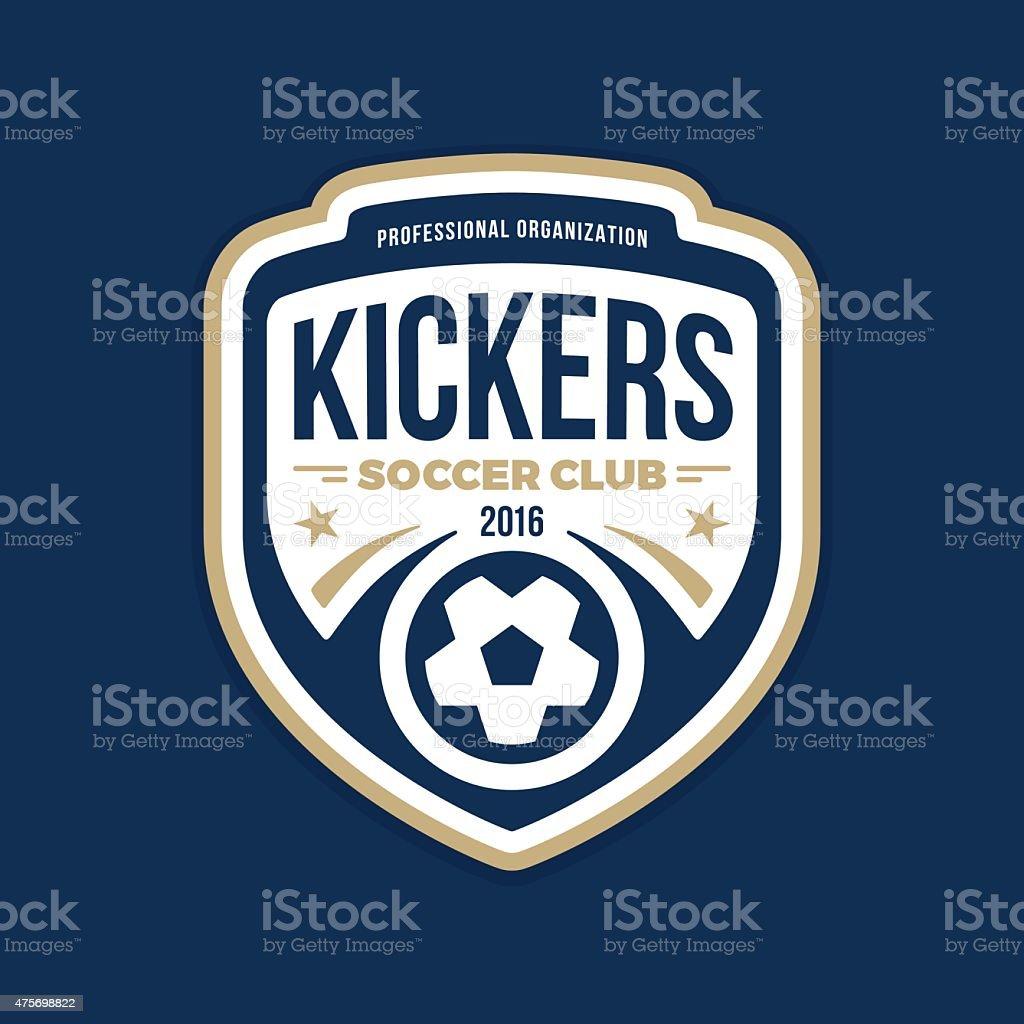 Soccer crest vector art illustration