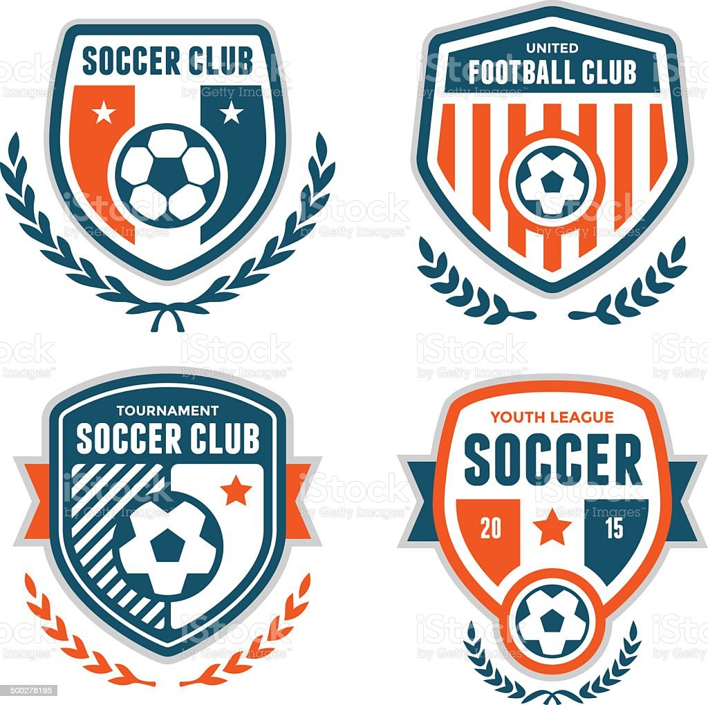 Soccer crests vector art illustration