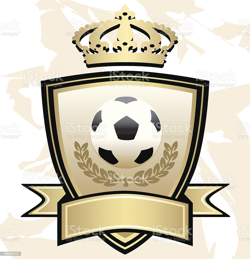 Soccer Crown Shield royalty-free stock vector art