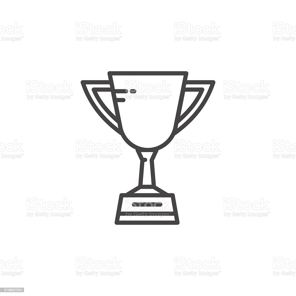 Soccer cup icon vector art illustration