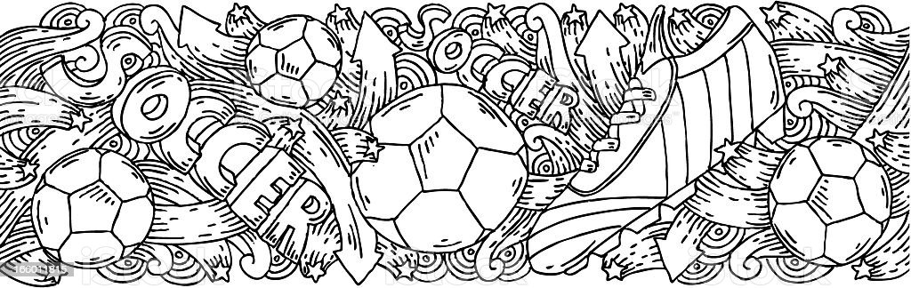 Soccer doodles background royalty-free stock vector art