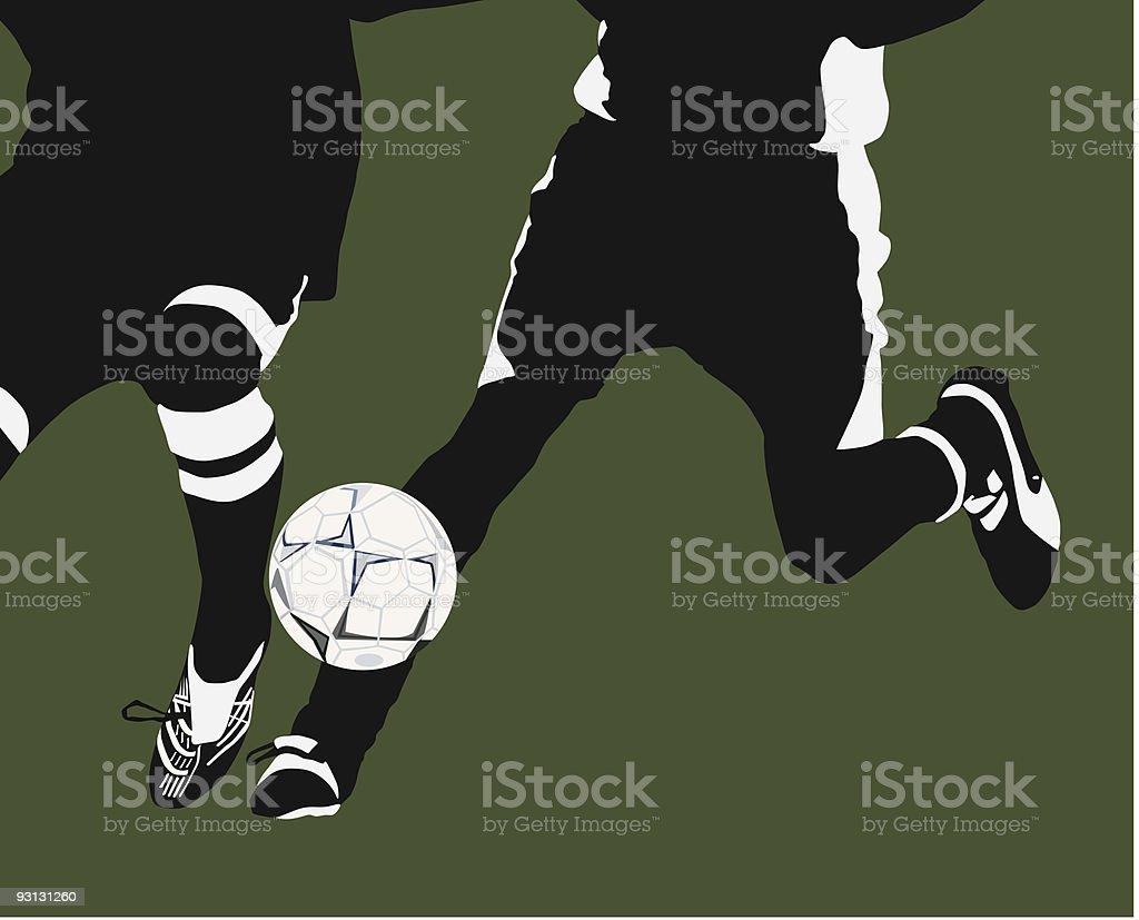 Soccer Dual royalty-free stock vector art