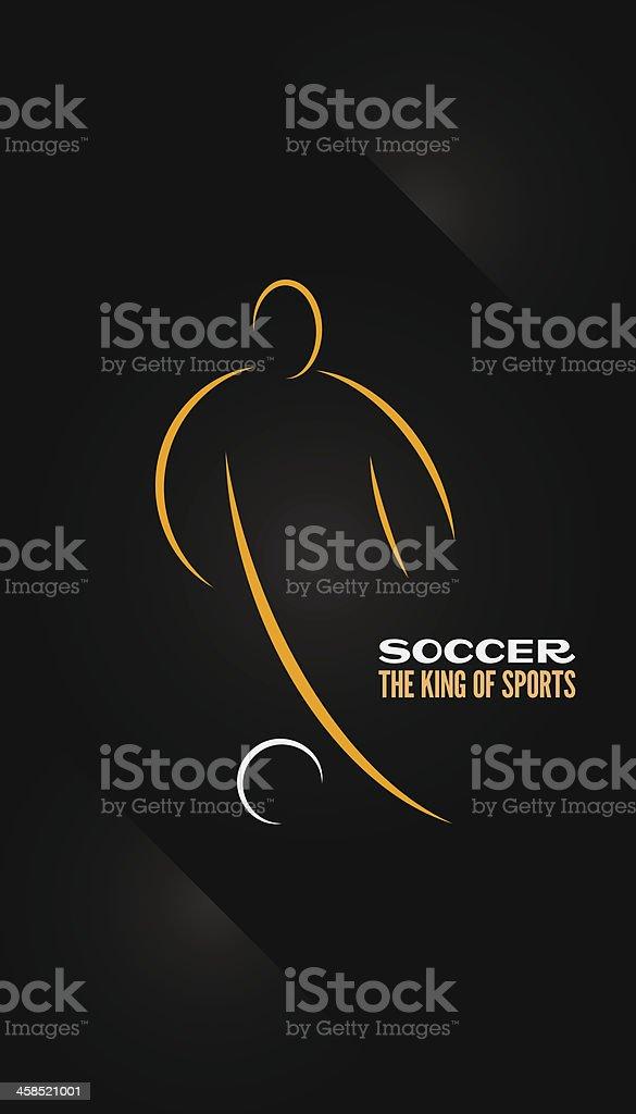 soccer emblem symbol design background royalty-free stock vector art