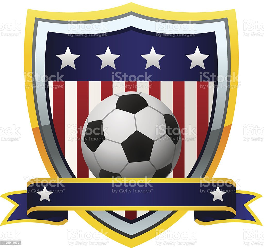 USA Soccer Emblem royalty-free stock vector art