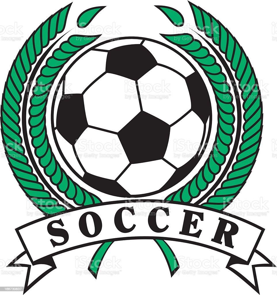 Soccer Emblem royalty-free stock vector art