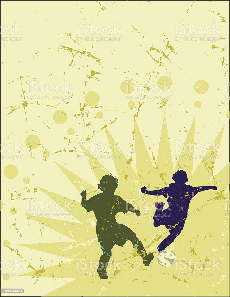 Soccer Explosion royalty-free stock vector art