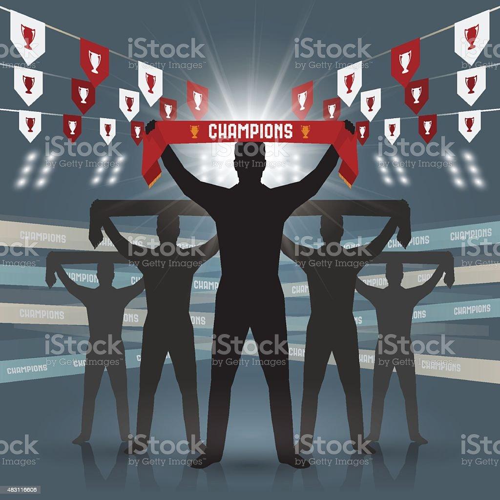 Soccer fan club vector art illustration