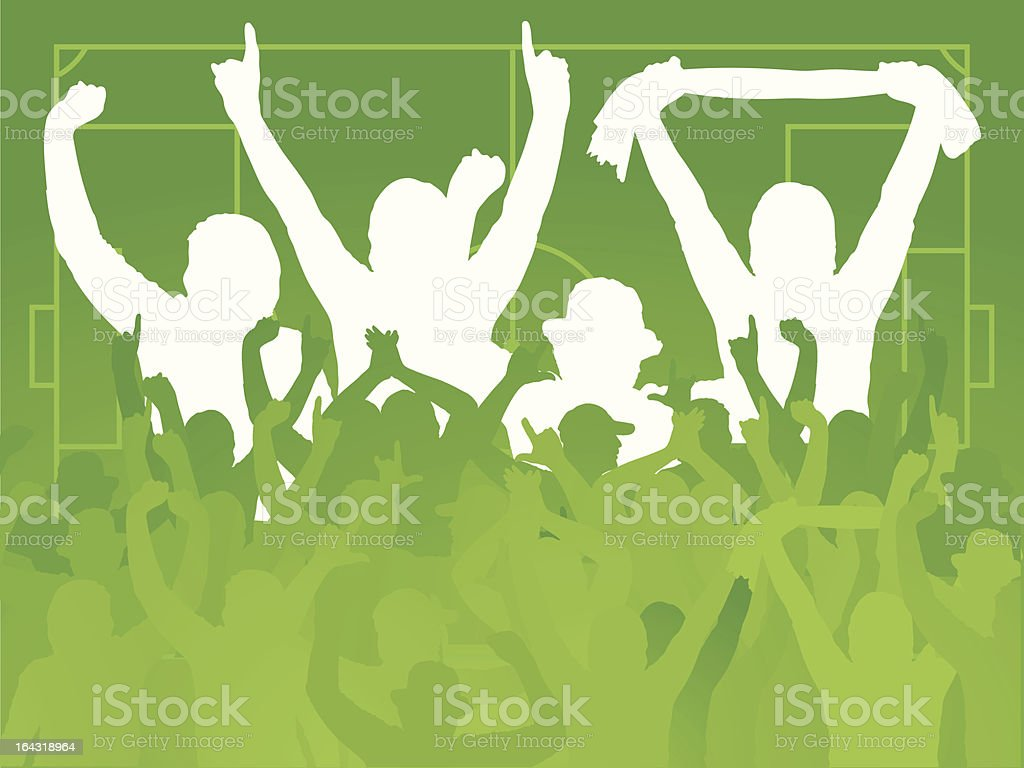 Soccer Fans royalty-free stock vector art