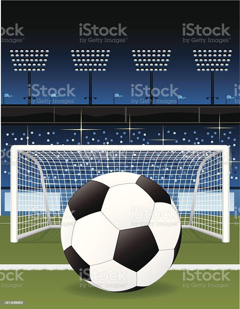 Soccer Field and Stadium royalty-free stock vector art