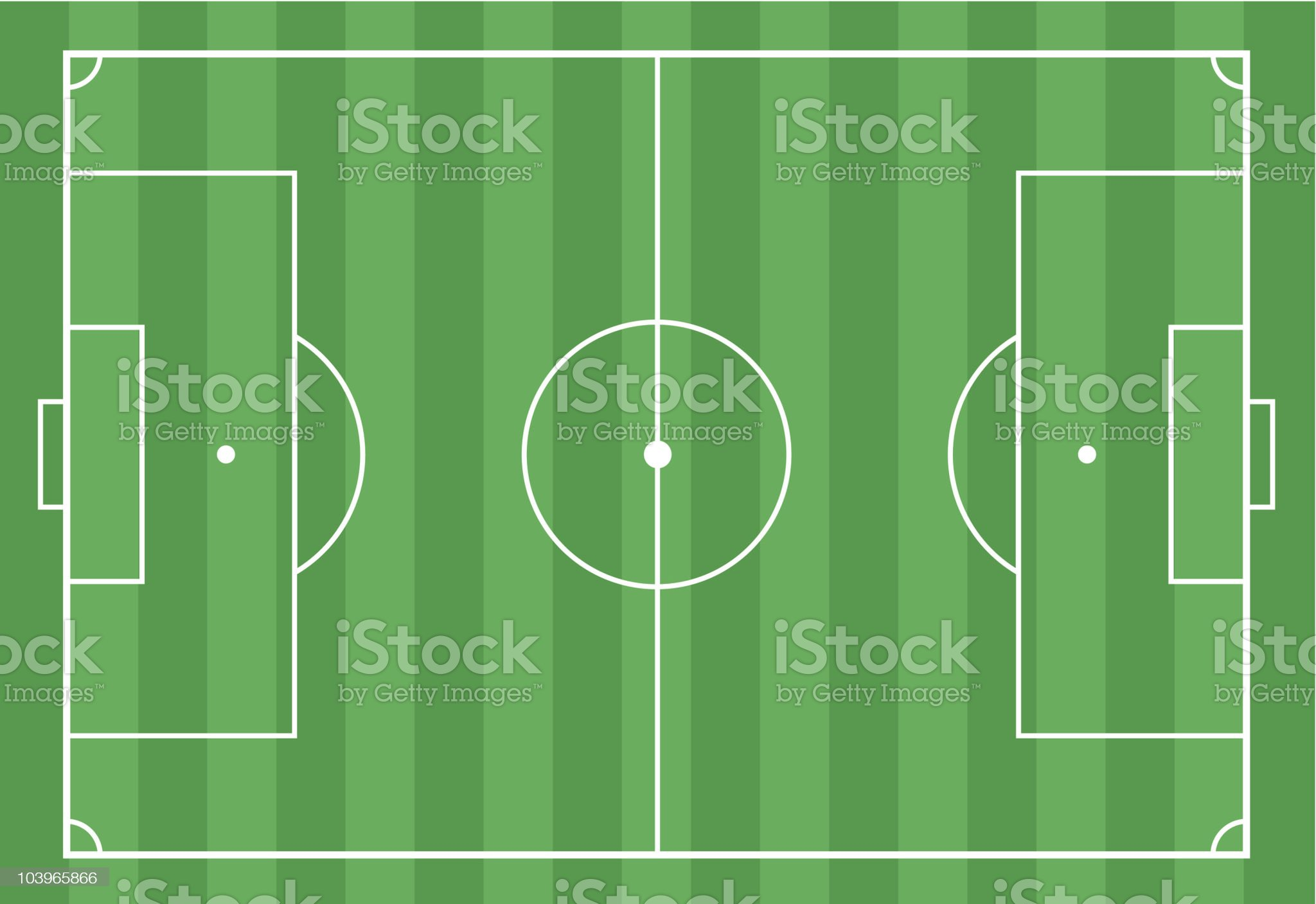 Soccer field from above royalty-free stock vector art