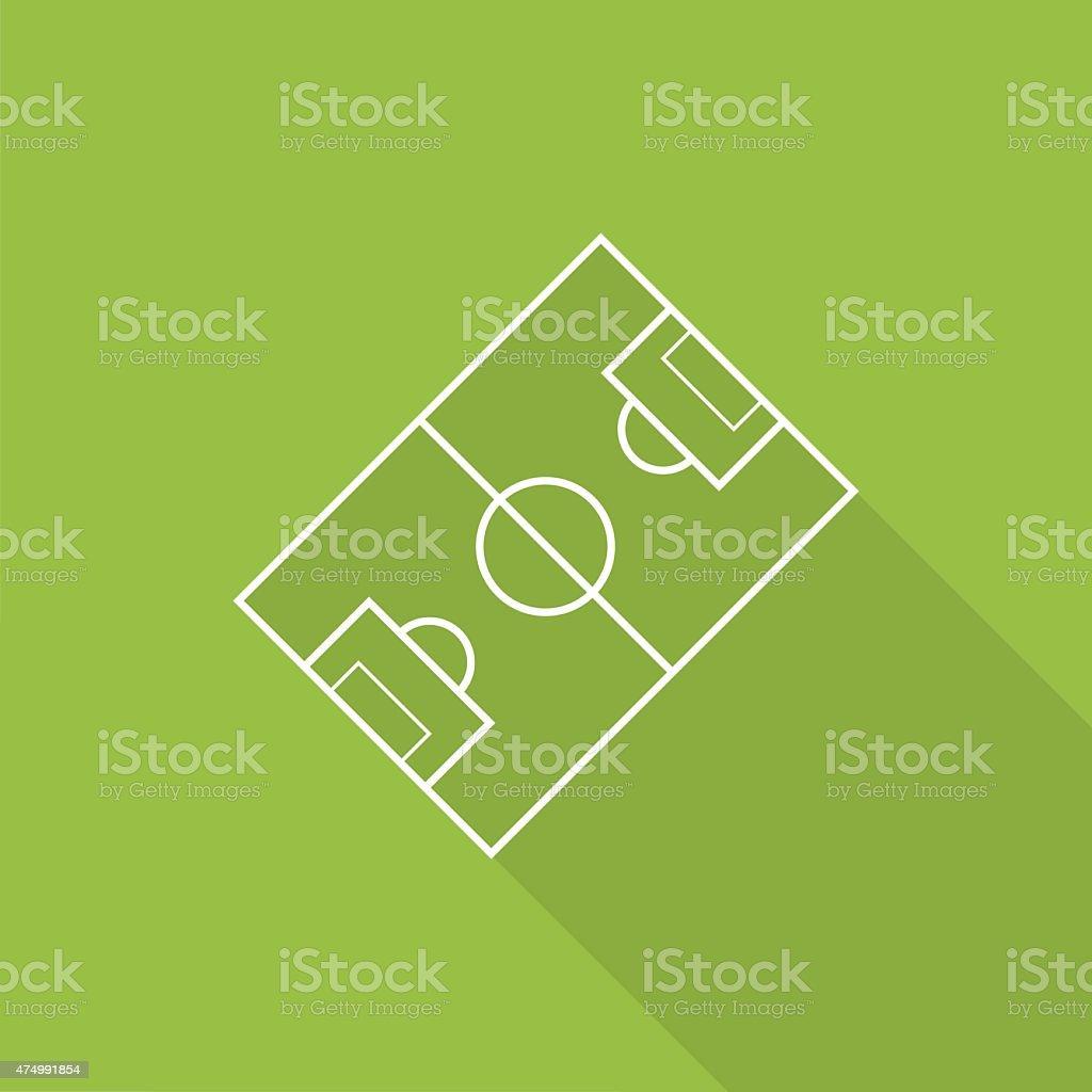 soccer field icon vector art illustration