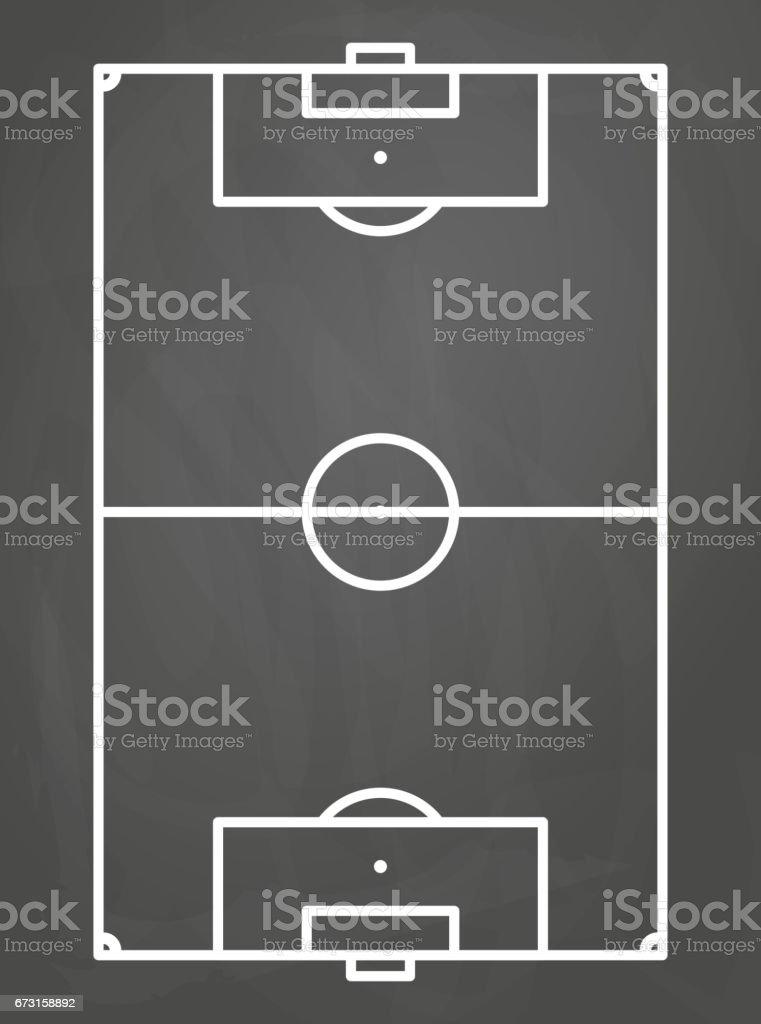soccer field on black boar vector art illustration
