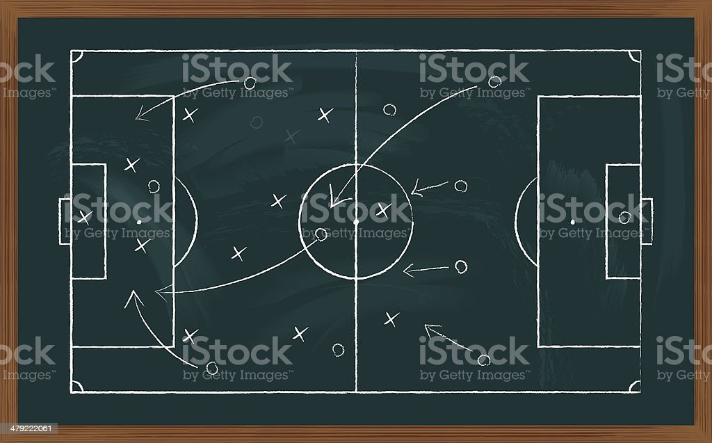 soccer field on board vector art illustration