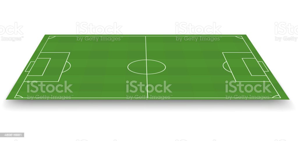 Soccer field, side view royalty-free stock vector art