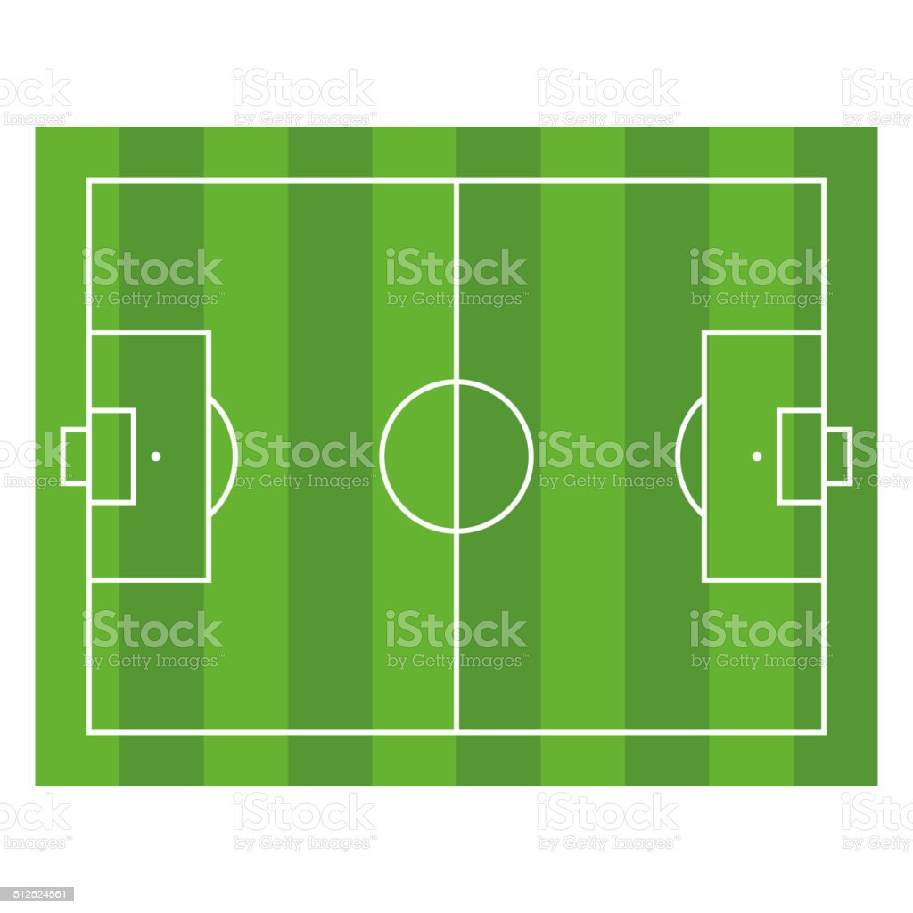 Soccer Field. Top View Football Green Stadium. Vector royalty-free stock vector art
