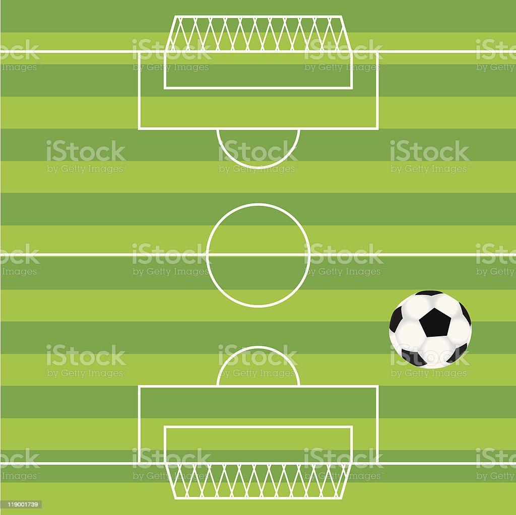 soccer field royalty-free stock vector art