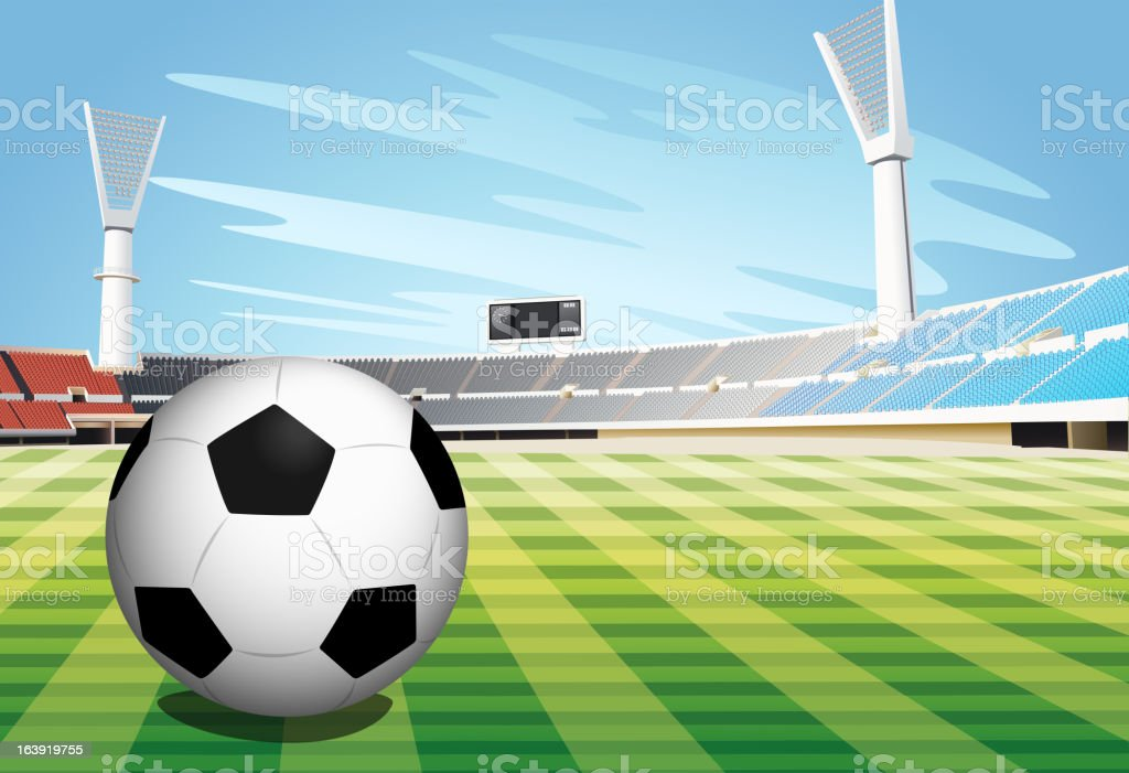 Soccer Field royalty-free stock vector art
