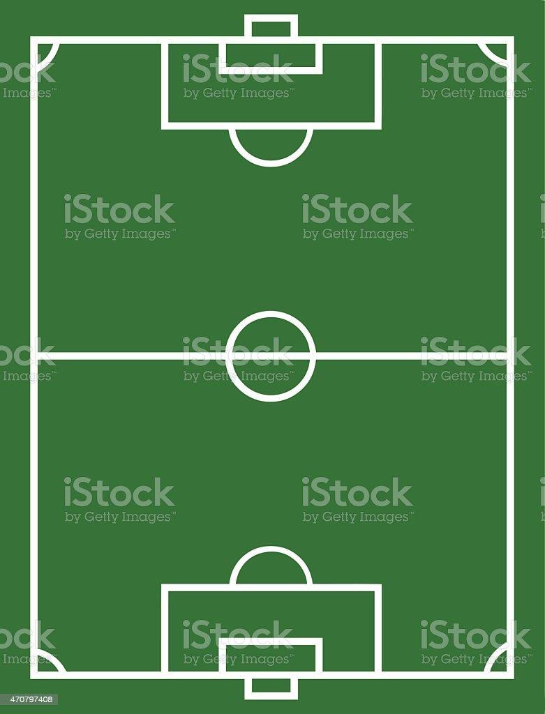 Soccer field vector art illustration