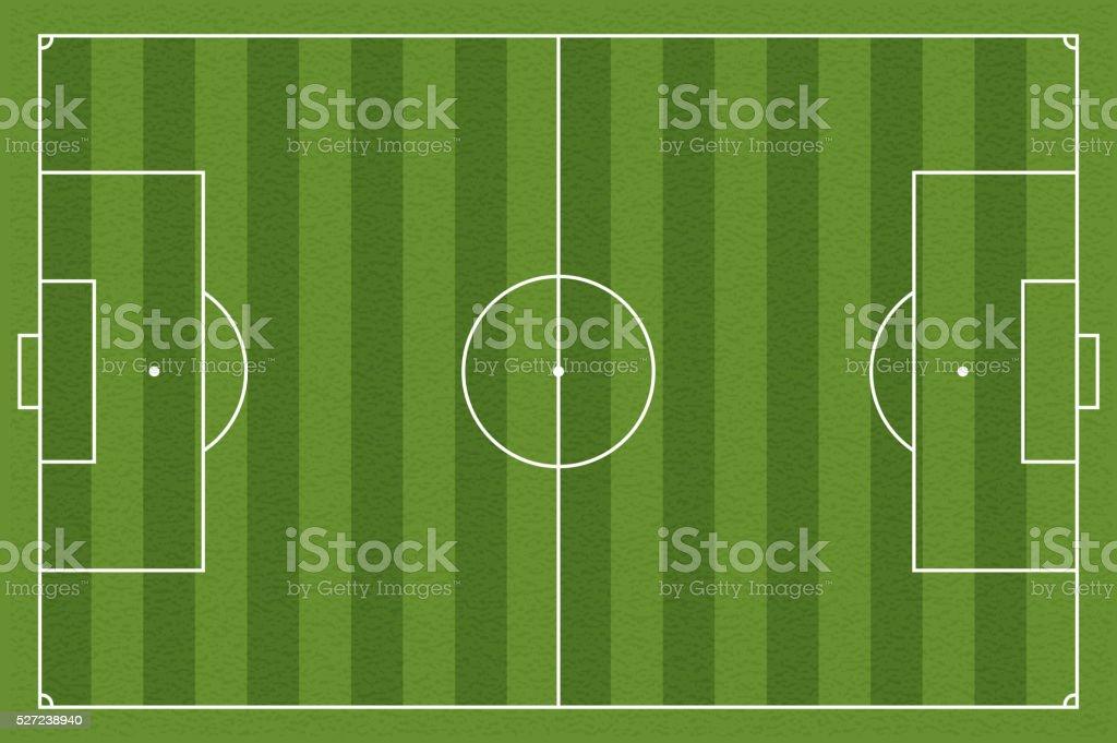 Soccer field, vector illustration vector art illustration