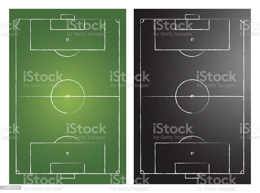 Soccer Fields vector art illustration